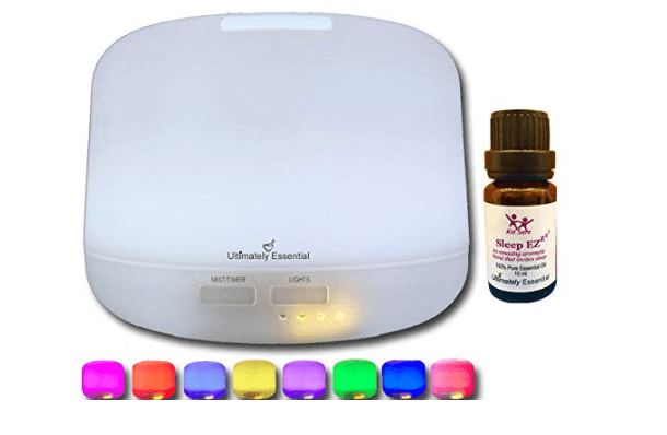 Amazon: Ultimately Essential Oil Diffuser Ultrasonic Aromatherapy 300 ml Cool Mist Ionizer Multiple LED Lights – PLUS – INCLUDES BONUS BOTTLE OF OUR TOP SELLING SLEEP EZ BLEND – $7.50