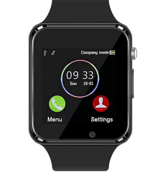 Amazon: Smart Watch Bluetooth Fitness Tracker, Qidoou Android iOS Compatible Smartwatch of SIM SD Card Slot, Waterproof Pedometer Sleep Calorie Monitor Call/Message Music Clock for Kids Men Women (Black) – $13.49