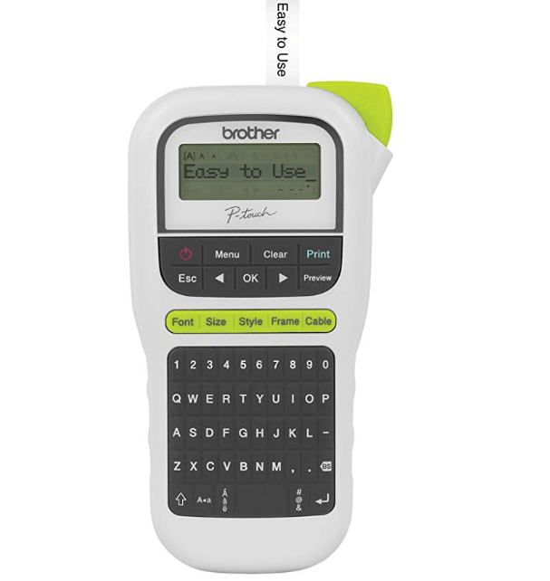Amazon: Brother P-touch, PTH110, Easy Portable Label Maker, Lightweight, QWERTY Keyboard, One-Touch Keys, White – $9.99