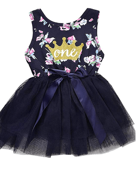 Amazon: Baby Girl Summer Outfits 1st Birthday Vest Top Sleeveless Floral Tutu Dress Clothes – $4.99