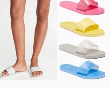 jelly slide flip flops