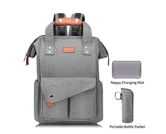 Amazon: Large Diaper Bag Backpack, Anti-Water Maternity Nappy Bags Changing Bags with Insulated Pockets and Stroller Straps – $12