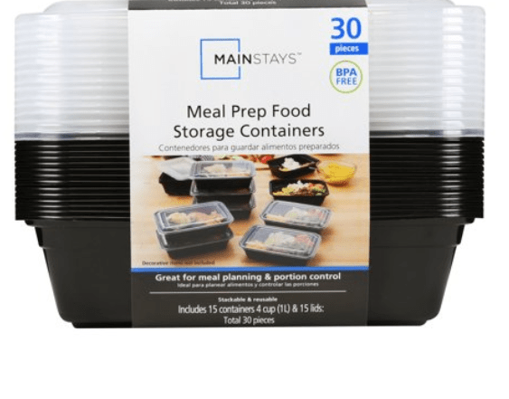 Walmart: Mainstays Meal Prep Food Storage Containers, 15 Count – $5.32