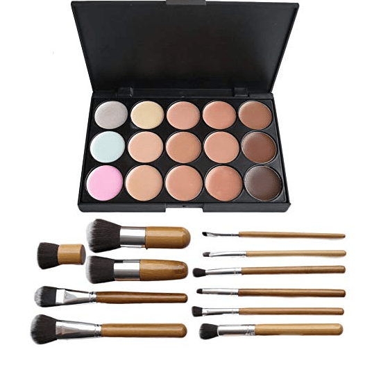Amazon: 15 Color Concealer Palette Kit with 11pcs Bamboo Makeup Brushes – $5.39