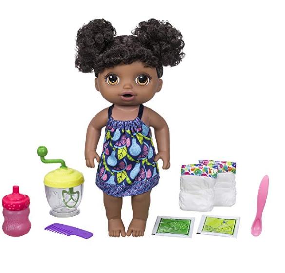 Amazon: Baby Alive Sweet Spoonfuls Baby Doll Girl (Black Hair)- $12.65
