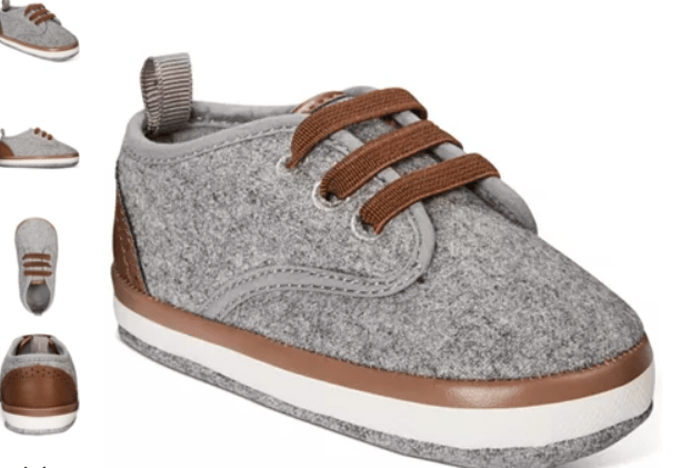 Macy's: First Impressions Baby Boys Faux-Leather-Trim Sneakers – $13.60