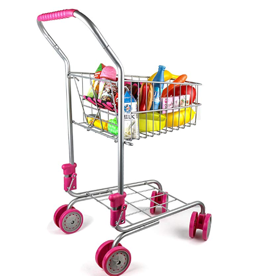 Amazon: Precious Toys Kids & Toddler Pretend Play Shopping Cart with Groceries – $14.98