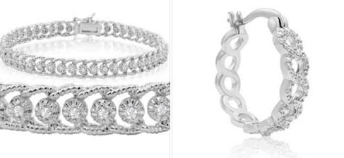 Super Jeweler: 1 Carat Diamond Ropework Tennis Bracelet & Earrings – $45