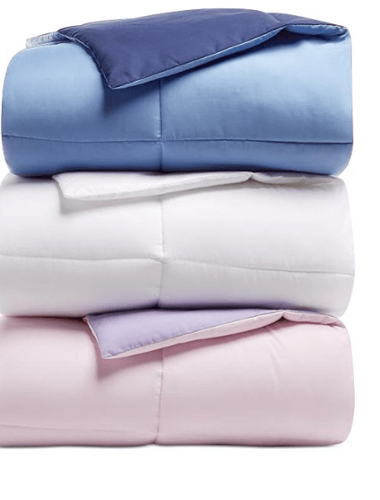 Macy's:Martha Stewart Essentials Reversible Down Alternative Comforter – $19.99