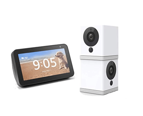 Amazon:Wireless Smart Home Camera Two Pack Bundle with Echo Show 5 (Charcoal) – $50.71