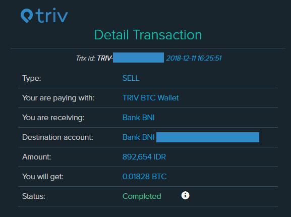 beli bitcoin lewat triv