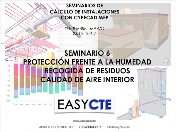 PROTECCIÓN FRENTE A LA HUMEDAD, RECOGIDAD DE RESIDUOS Y CALIDAD DE AIRE INTERIOR