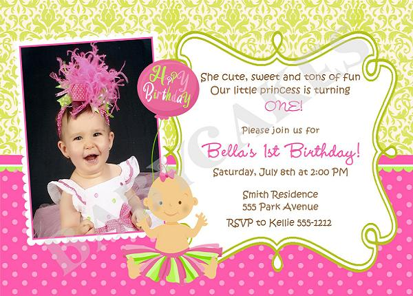 first birthday invitation wording and