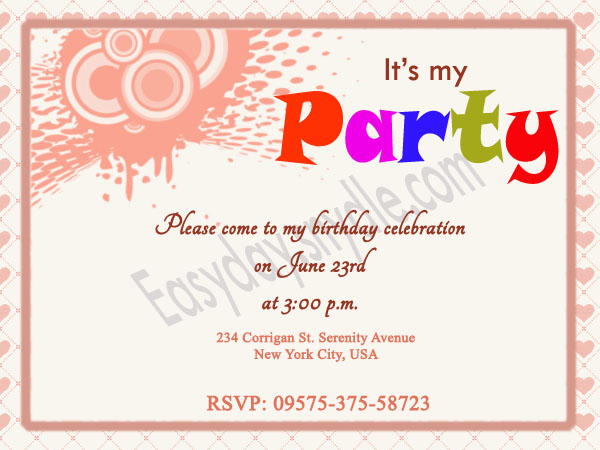 dinner party invitation sms Cogimbous