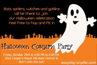 halloween party invite wording