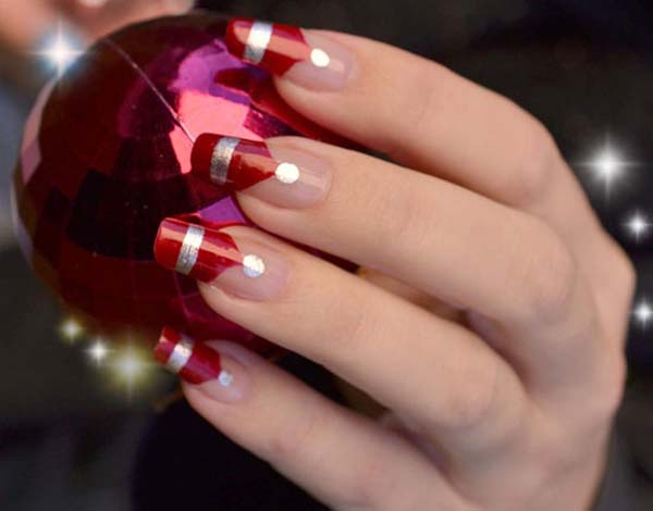 Candy Cane Tips 20 Fantastic Diy Christmas Nail Art Designs That Are Borderline Genius