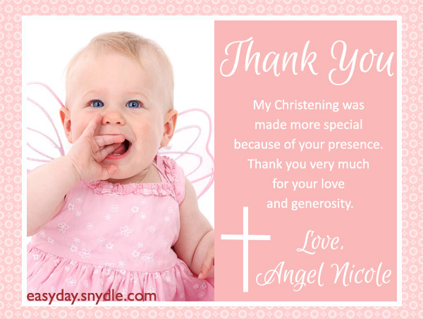 Thank You Text Messages For Baptism And Christening Easyday