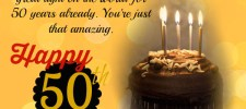 50th birthday messages - 50th Birthday Wishes