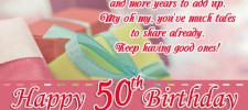 happy 50th birthday wishes - 50th Birthday Wishes