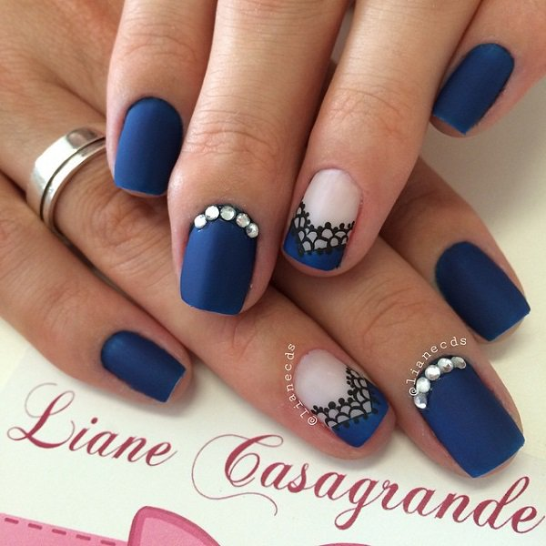 Blue Nail Art Designs And Ideas 11