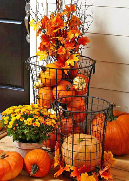 30 Eye-Catching Outdoor Thanksgiving Decorations Ideas ... on Lawn Decorating Ideas  id=67672