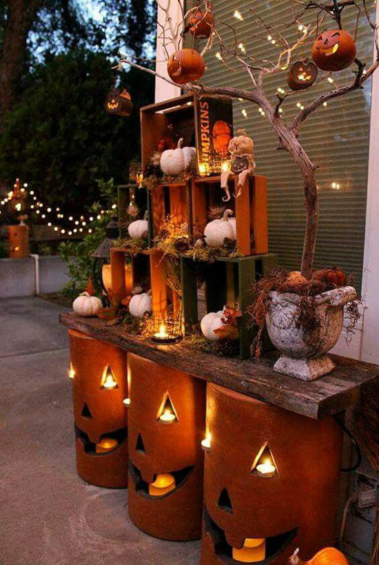 30 Eye-Catching Outdoor Thanksgiving Decorations Ideas ... on Patio Decorating Ideas With Lights  id=72372
