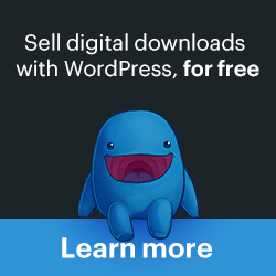 Sell digital downloads with WordPress, for free
