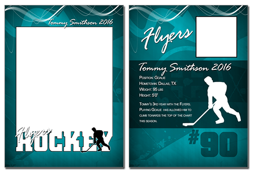 Hockey Cutout Trading Card Photoshop Amp Elements