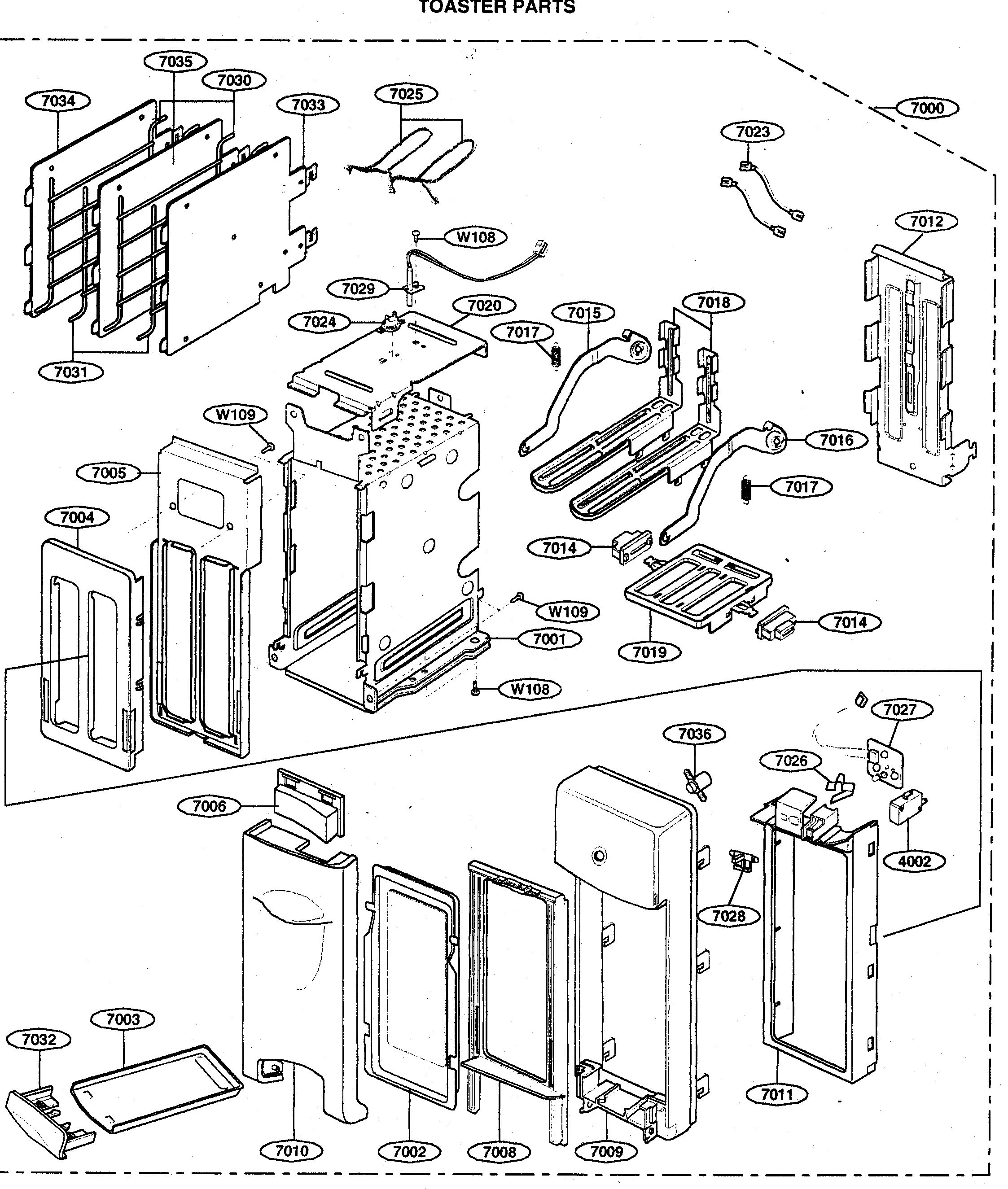 Toster Parts Diagram