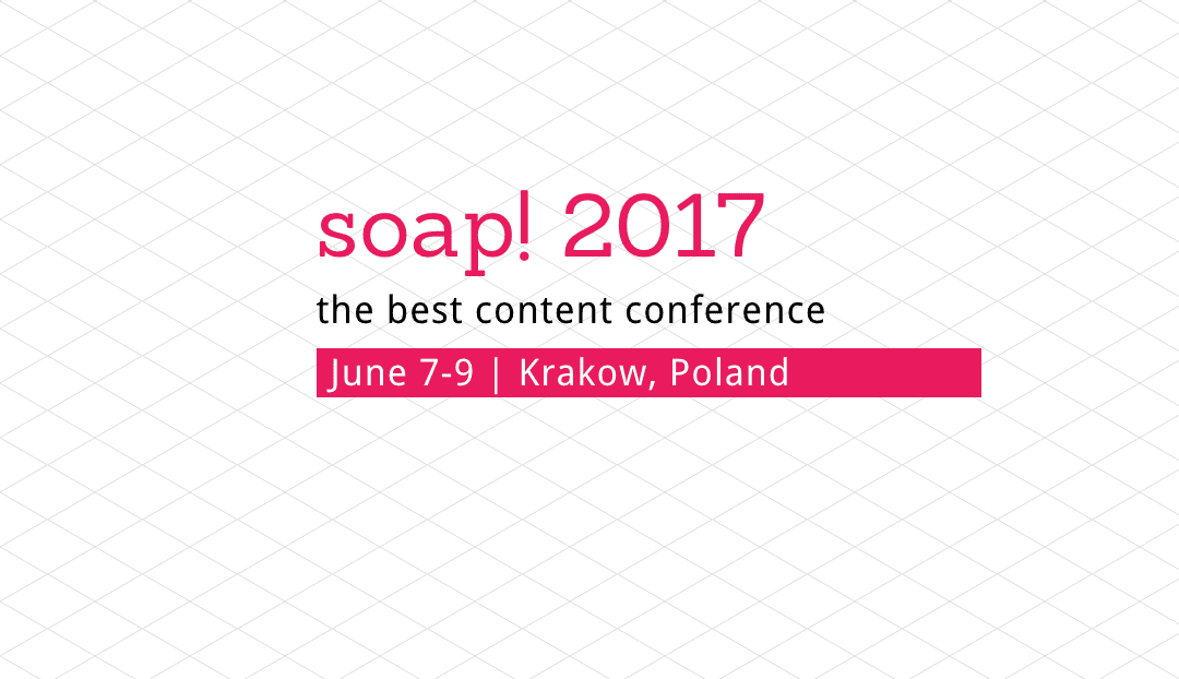 easyDITA will be at soap! 2017 next week: Come say hello!