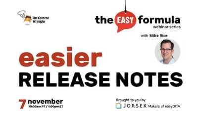 The Easy Formula: Easier Release Notes