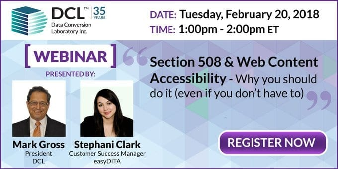 Section 508 and Web Content Accessibility Webinar