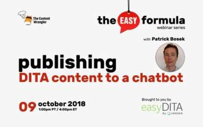 Webinar: Publishing DITA Content to a Chatbot