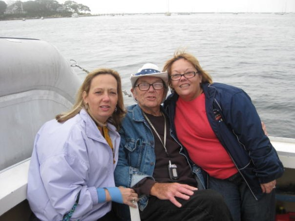 Diane, Fred, and Elizabeth - Dad with Two Daughters