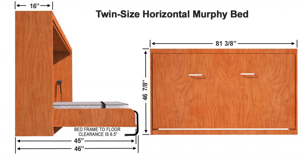 vertical murphy bed kit