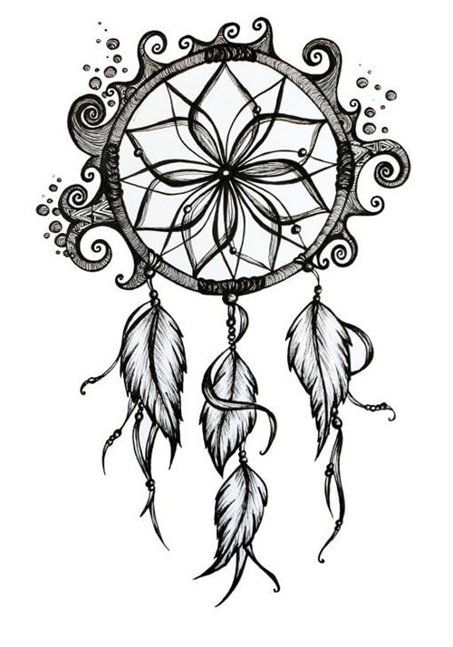 Discover Dream Catcher With Falling Feathers Drawing Easy Draw Everything