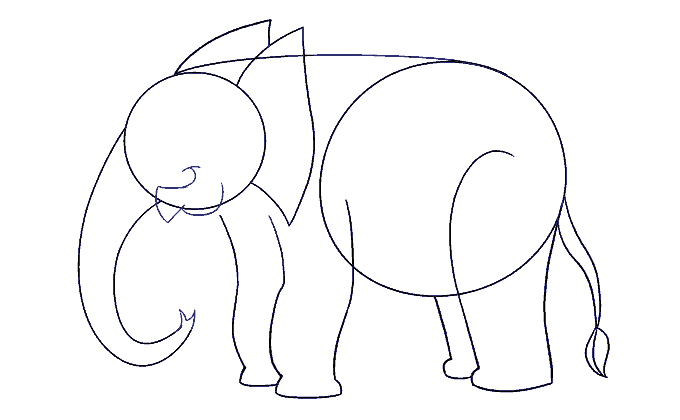 How To Draw An Elephant Easy Drawing Guides