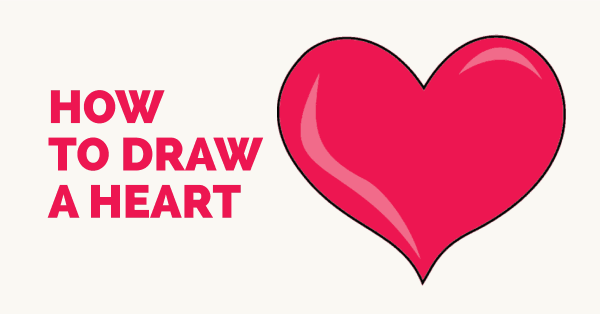 How to Draw a Heart   Step-by-Step Tutorial   Easy Drawing ...