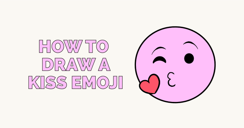 a676c540a How To Draw A Kiss Emoji Really Easy Drawing Tutorial
