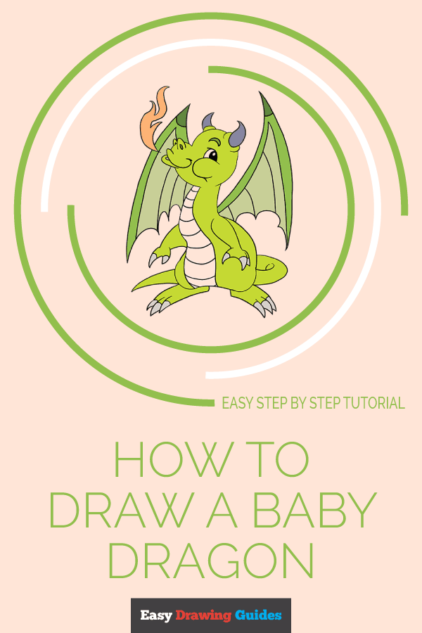 How To Draw A Baby Dragon Easy Drawing Guides