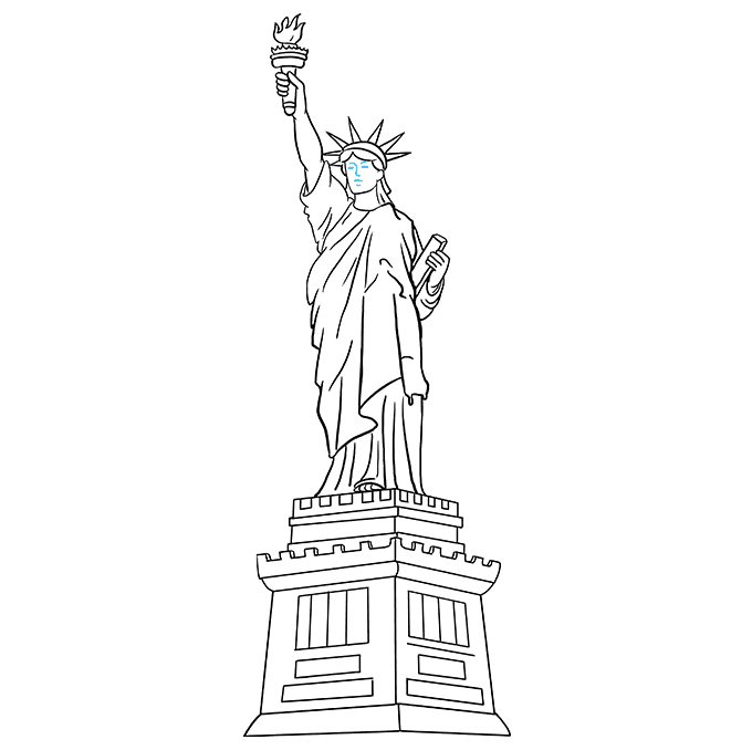 How To Draw The Statue Of Liberty Really Easy Drawing Tutorial