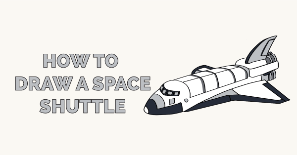 How to Draw a Space Shuttle - Really Easy Drawing Tutorial