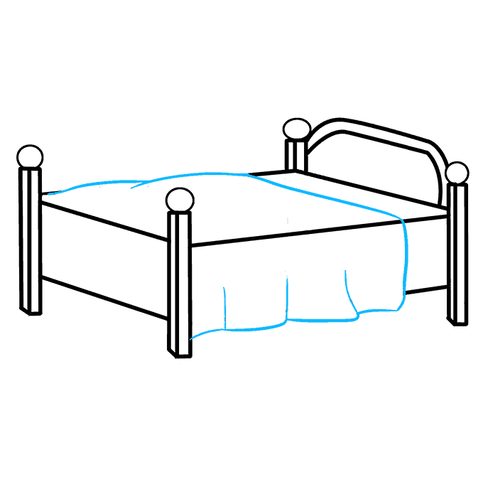 how to draw a bed really easy drawing
