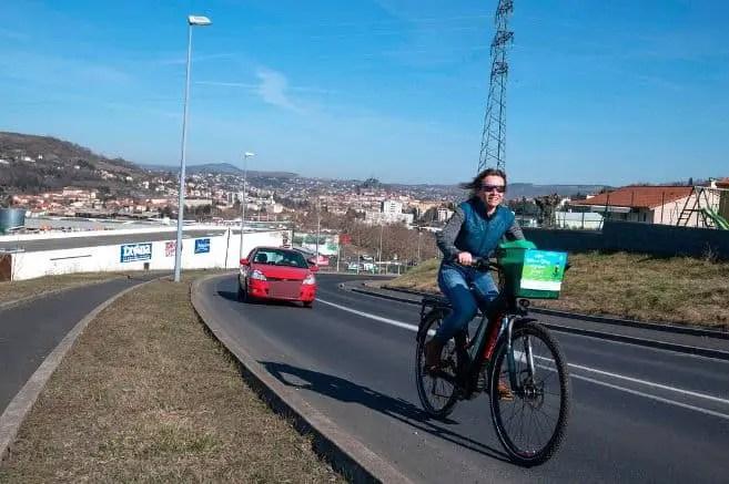 Easy E-Biking - e-bike rider on the road, helping to make electric biking practical and fun