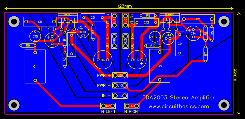 TDA2003 Stereo Amplifier