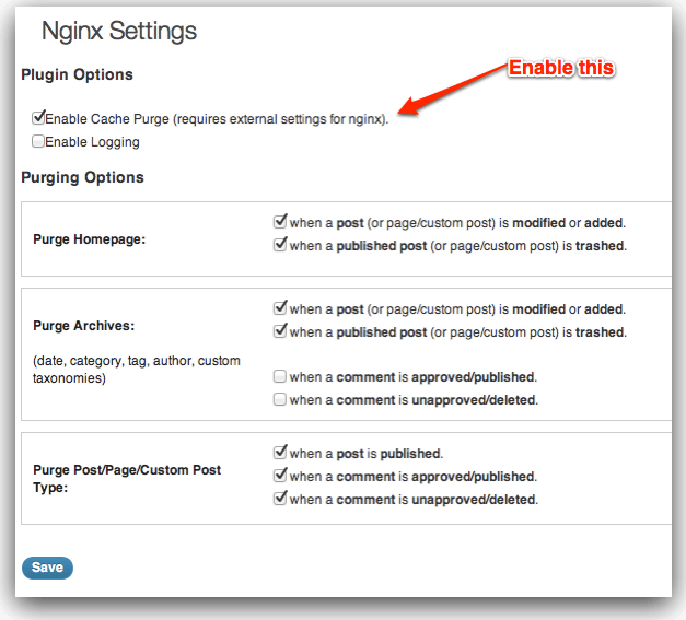 Nginx + WordPress + fastcgi_cache with conditional purging