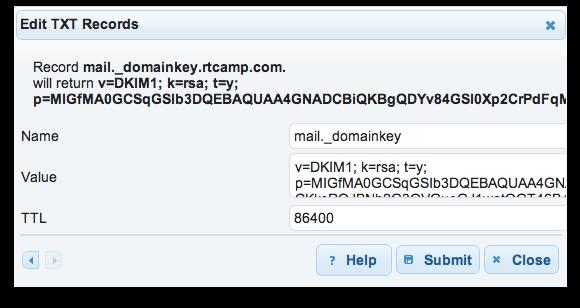 DKIM with Postfix on Ubuntu