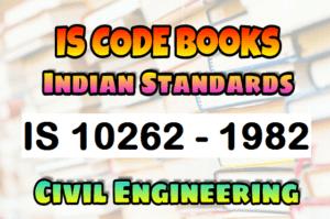 IS 10262 - 1982 CODE Book