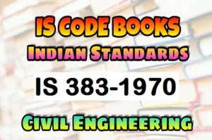 IS 383-1970 CODE Book