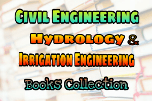 Water Resources (Hydrology & Irrigation) Books Collection